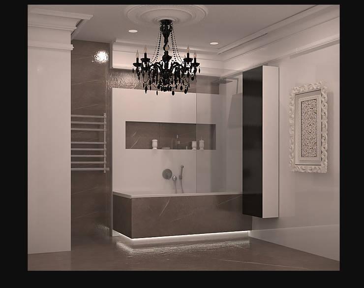 ванная вид 2.: Ванные комнаты в . Автор – freeDOM, Классический Плитка