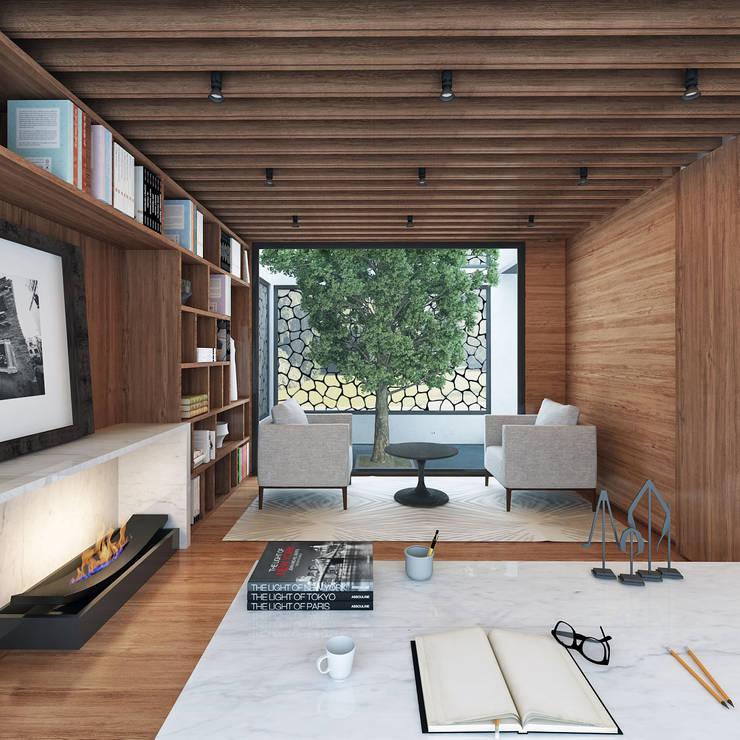 Studio in stile in stile Moderno di LG STUDIO