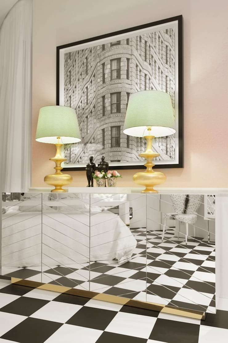 Paris . Interdesign: Sala de estar  por Interdesign Interiores
