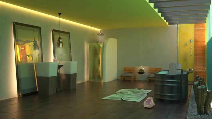 Baño al sol: Baños de estilo  por SIMPLE actitud