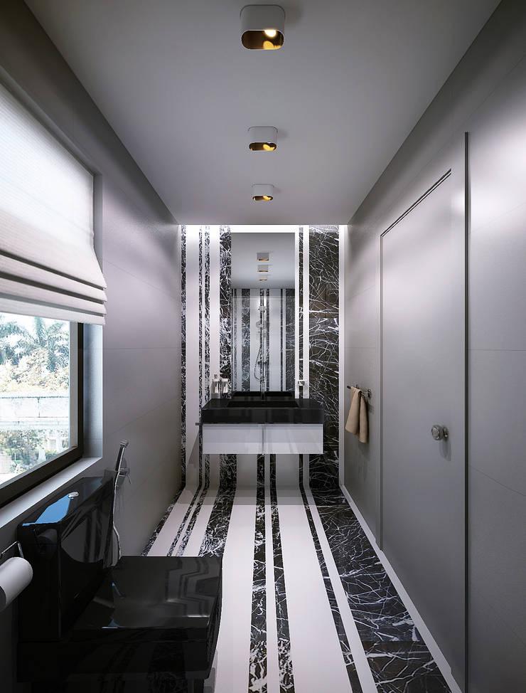 Bathrooms. USA: Ванные комнаты в . Автор – KAPRANDESIGN