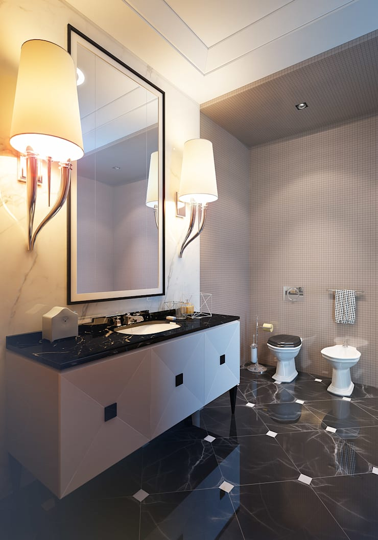 Apartment in Moscow: Ванные комнаты в . Автор – KAPRANDESIGN