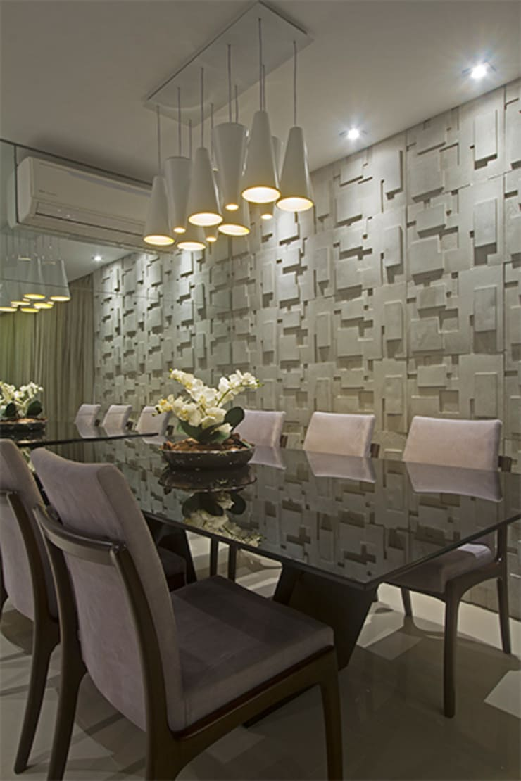 Apartamento Brooklin: Salas de jantar  por Nuovo Design de Interiores,