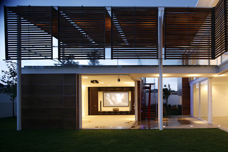 Casa Quince.: Casas de estilo  por Echauri Morales Arquitectos
