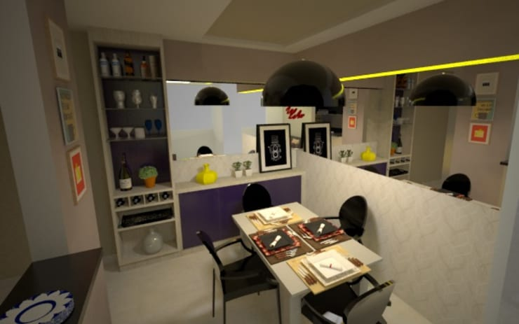 Favoritto – Ce: Salas de jantar modernas por Duecad - Arquitetura e Interiores