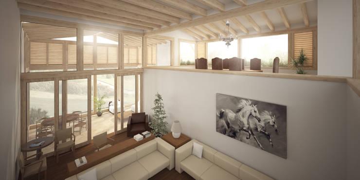 Casa BK: Salas de estilo clásico por JR Arquitectos