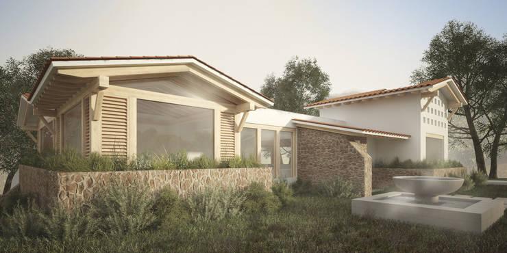 Fachada Principal: Casas de estilo  por JR Arquitectos