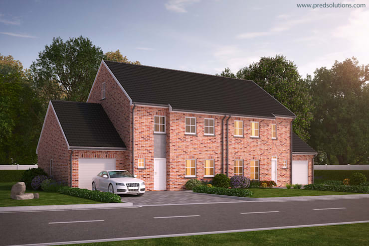 3D Exterior Architectural Visualization from Pred Solutions:  Houses by Pred Solutions