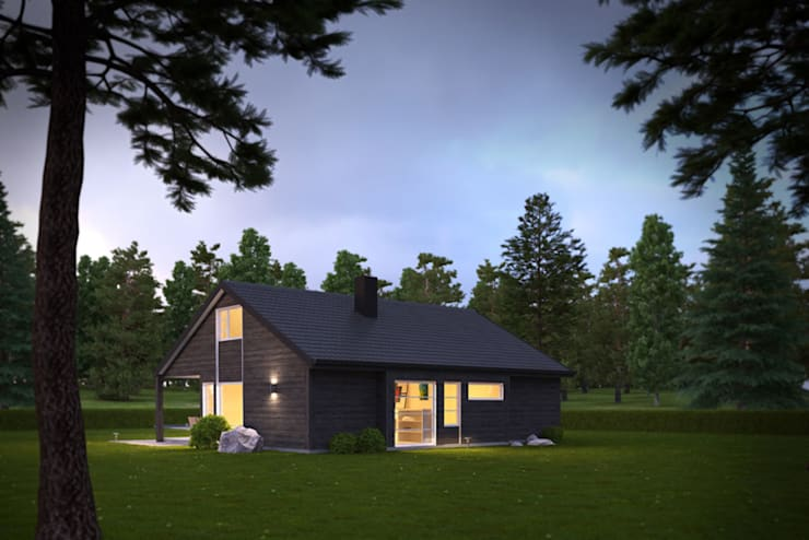 3d Exterior House Rendering from Pred Solutions:  Houses by Pred Solutions