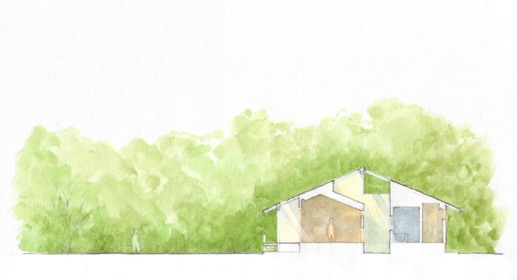 透き抜ける家: 麻生建築設計工房が手掛けたです。,
