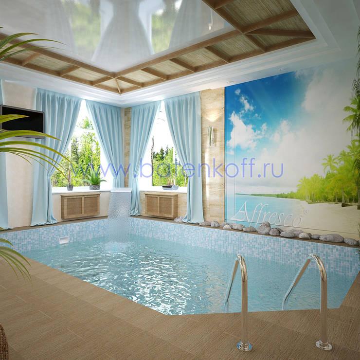 Дизайн проект бассейна в эко стиле : Бассейн в . Автор – Дизайн студия 'Дизайнер интерьера № 1'