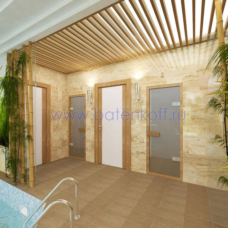 Дизайн проект бассейна в эко стиле : Ванные комнаты в . Автор – Дизайн студия 'Дизайнер интерьера № 1'