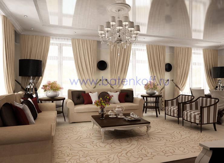 Дизайн проект гостиной в ардеко: Гостиная в . Автор – Дизайн студия 'Дизайнер интерьера № 1'