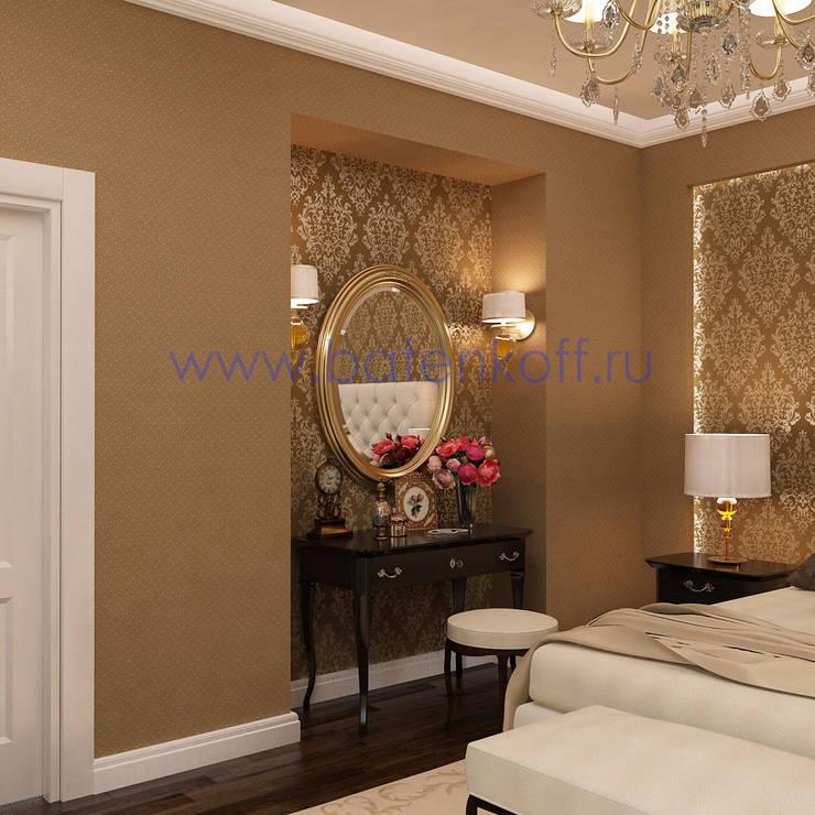 Дизайн проект спальни в классическом стиле: Спальни в . Автор – Дизайн студия 'Дизайнер интерьера № 1'