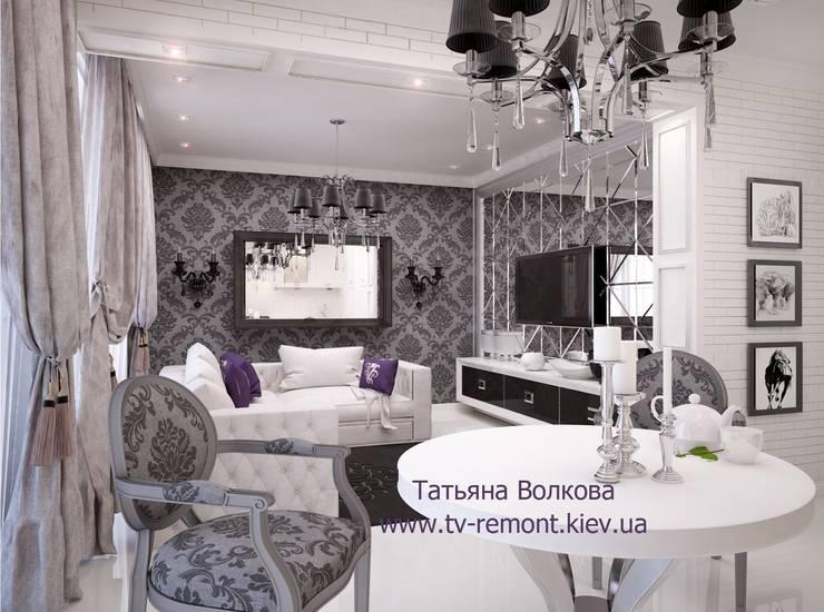 Гостиная в . Автор – Дизайнер Татьяна Волкова