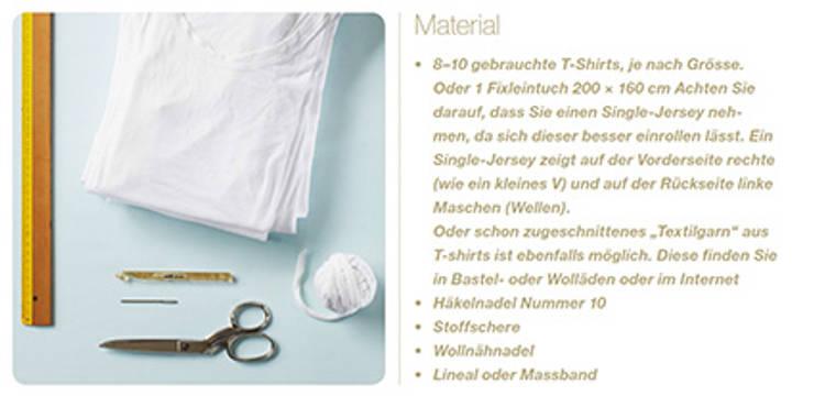 Teppich Aus Recycling T Shirts Oder Textilgarn Von Knit Kit Gmbh