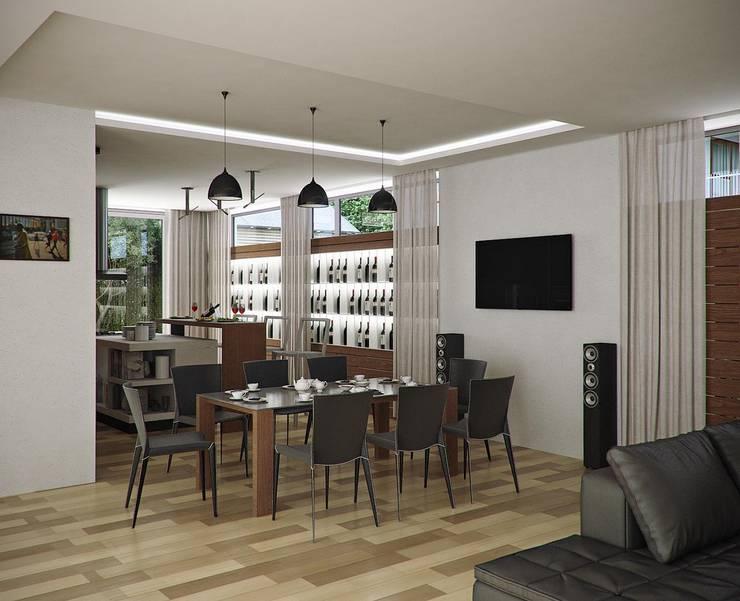 Городской дом: Кухни в . Автор – EFAS,