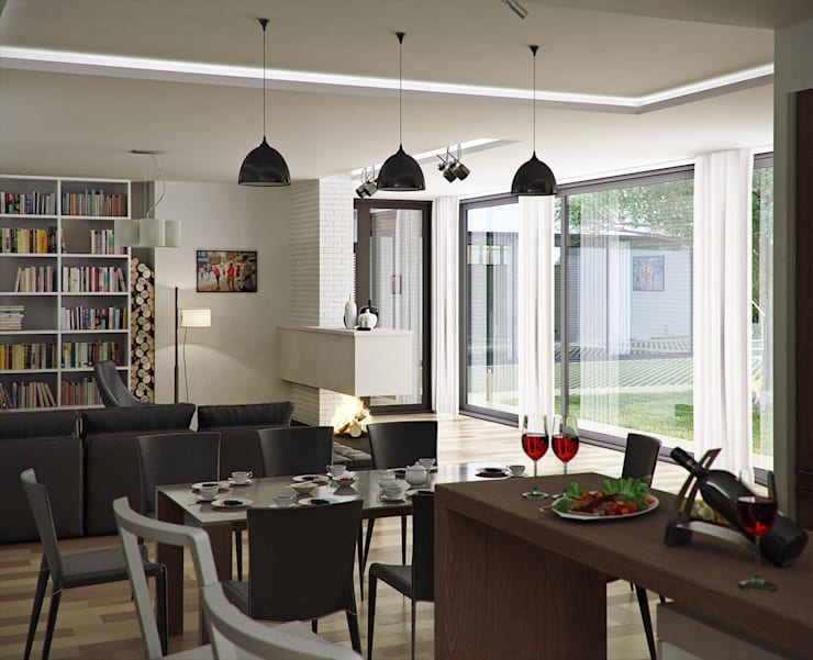 Городской дом: Столовые комнаты в . Автор – EFAS,