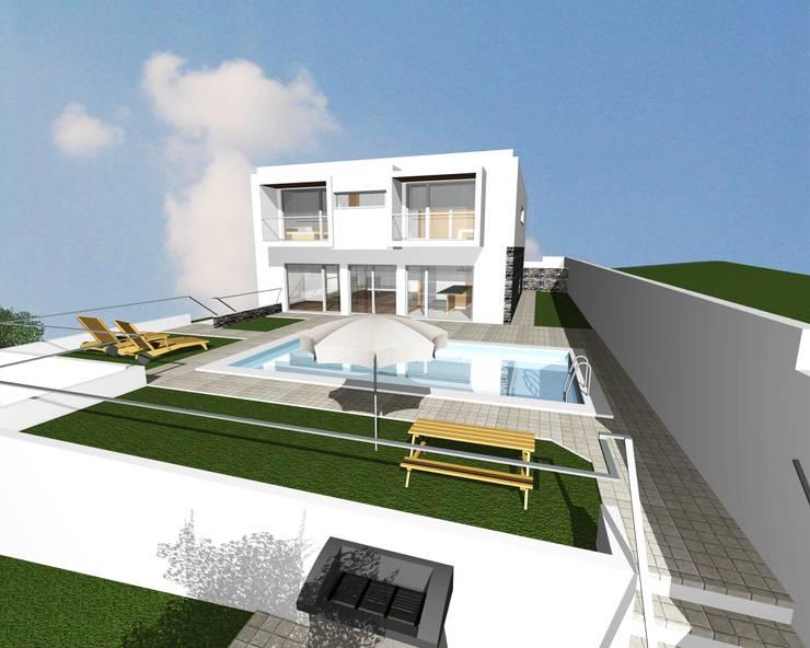 Moradia isolada com 4 Frentes- Olival- Vila Nova de Gaia- Porto:   por Bati-Vale Construções Lda