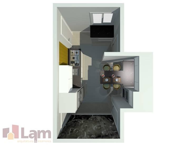 Cozinha - Projeto:   por LAM Arquitetura | Interiores,