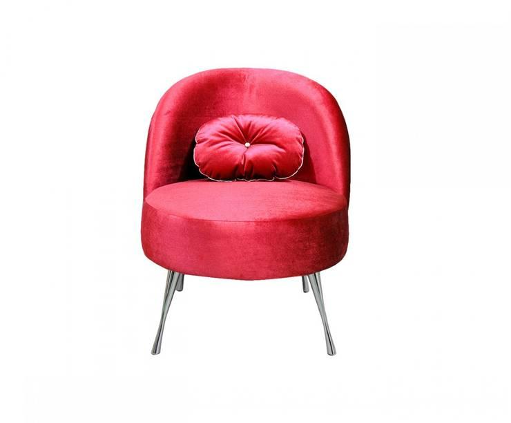 Luksusowy fotel Glamour: styl , w kategorii Salon zaprojektowany przez onemarket.pl