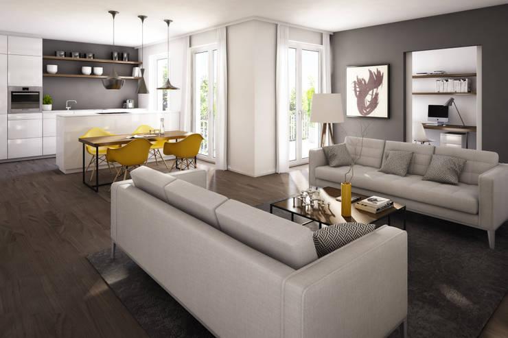 Living room by winhard 3D, Scandinavian