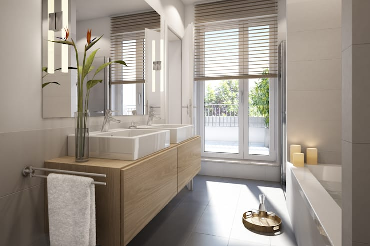 modern Bathroom by winhard 3D