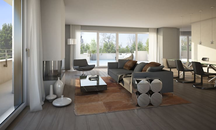 Living room by winhard 3D, Modern