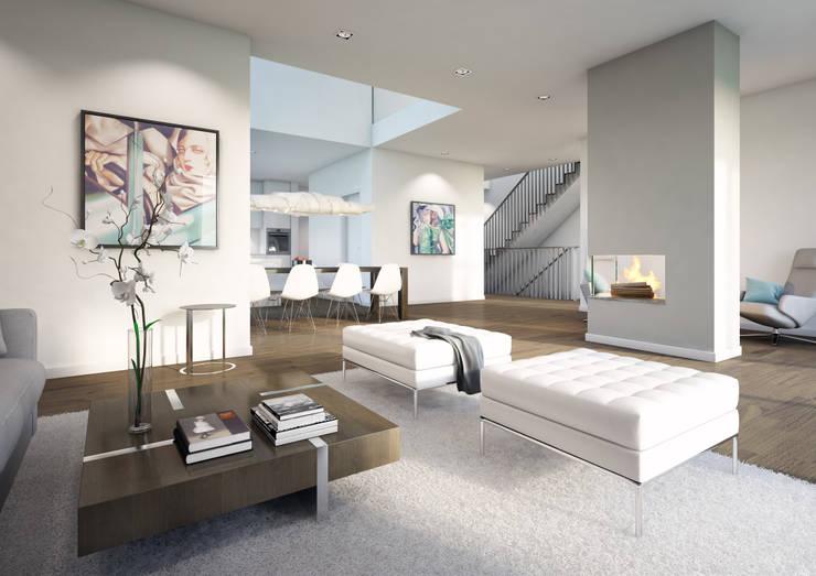 Villa bei Frankfurt:  Wohnzimmer von winhard 3D
