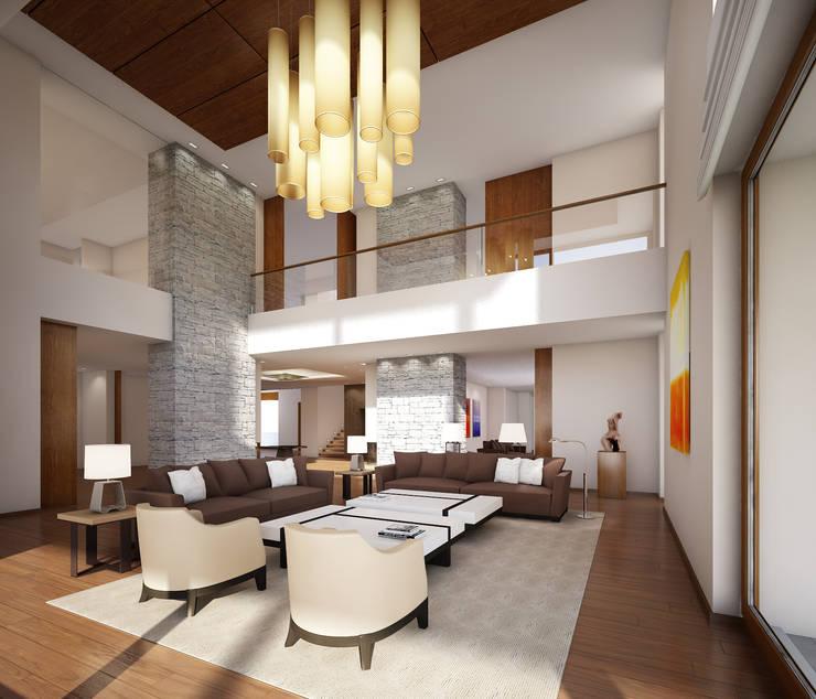 Wohnhaus bei Moskau:  Wohnzimmer von winhard 3D