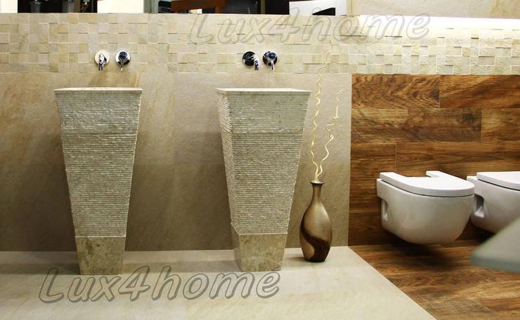 Stojąca umywalka z marmuru - wolnostojące umywalki kamienne: styl , w kategorii Łazienka zaprojektowany przez Lux4home™