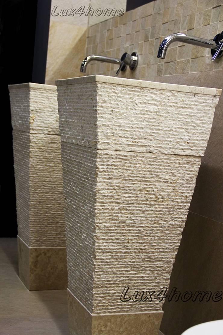 Stojąca umywalka z marmuru - wolnostojące umywalki kamienne: styl , w kategorii Kuchnia zaprojektowany przez Lux4home™