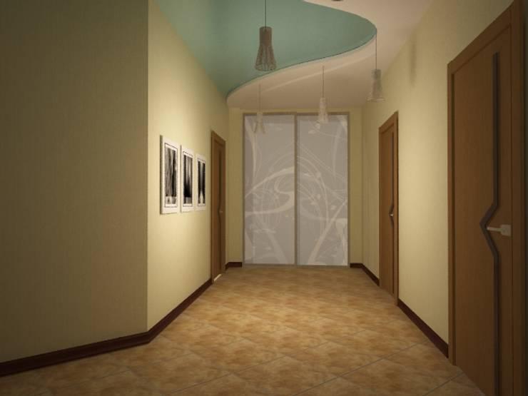 Show room г.Геленджик: Коридор и прихожая в . Автор – Yana Ikrina Design, Классический