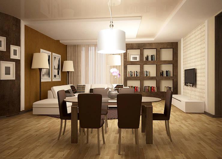 Show room г.Геленджик: Гостиная в . Автор – Yana Ikrina Design, Классический
