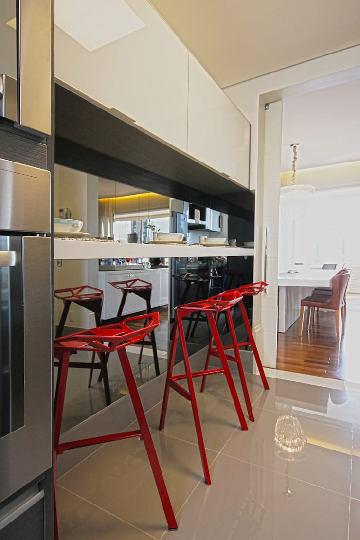 Apartamento Itaim: Cozinhas  por Officina44