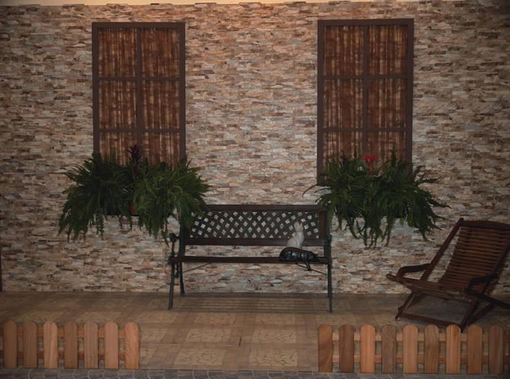 Azulejos para fachadas o paredes de estilo piedra de for Cubrir una pared exterior