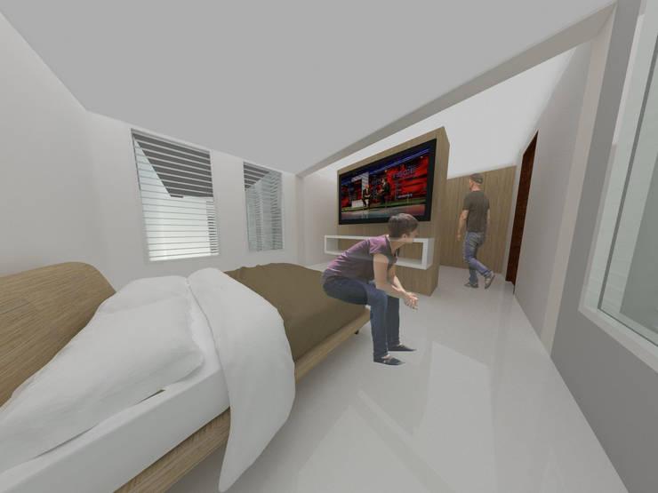 Habitación principal:  de estilo  por Tres en uno design