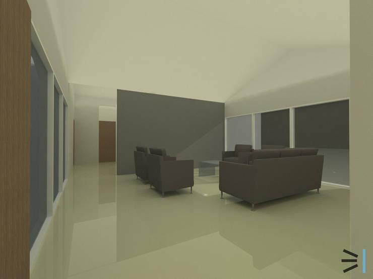 Sala de estar:  de estilo  por Tres en uno design