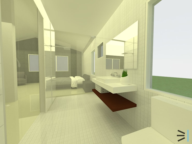 Sanitario principal:  de estilo  por Tres en uno design