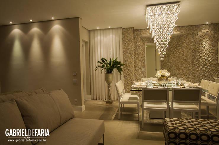 Sala de Jantar - ED. ÚNICO CAMPOLIM / Sorocaba: Salas de jantar  por Andréa Carvalho Arquitetos Associados,
