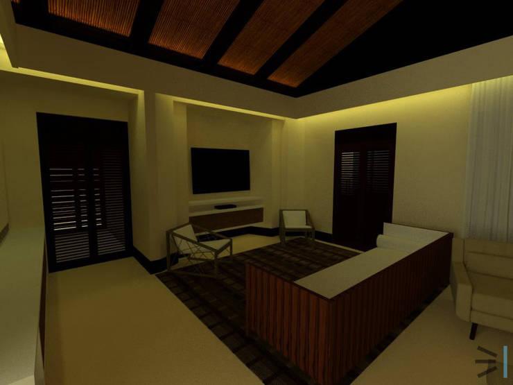 Sala de estar de Habitación Principal:  de estilo  por Tres en uno design