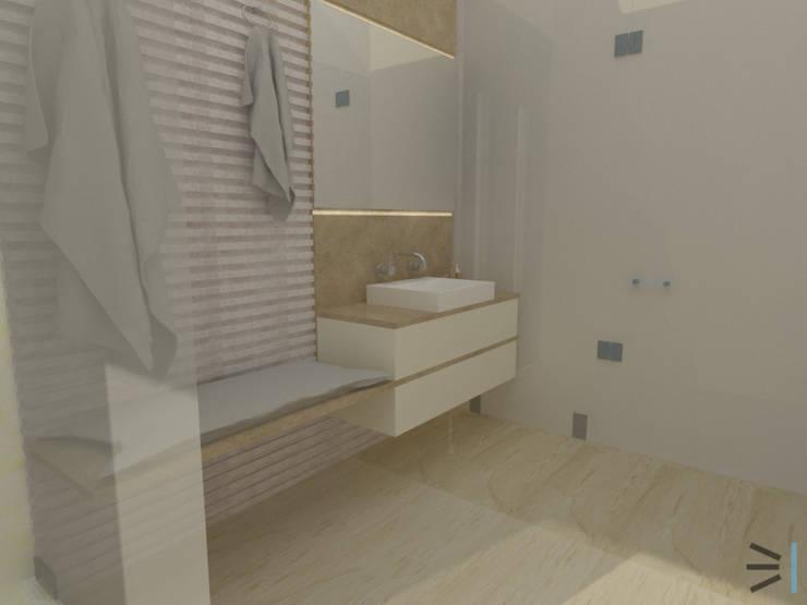 Sanitario Sauna:  de estilo  por Tres en uno design