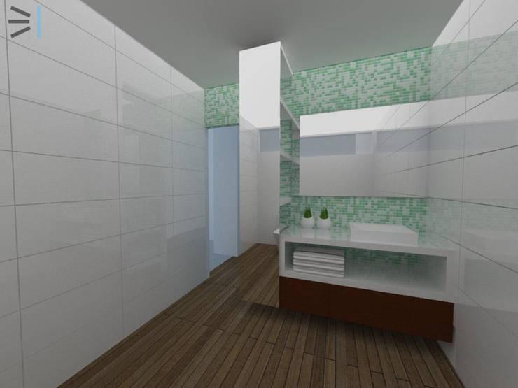 Sanitario / piscina:  de estilo  por Tres en uno design