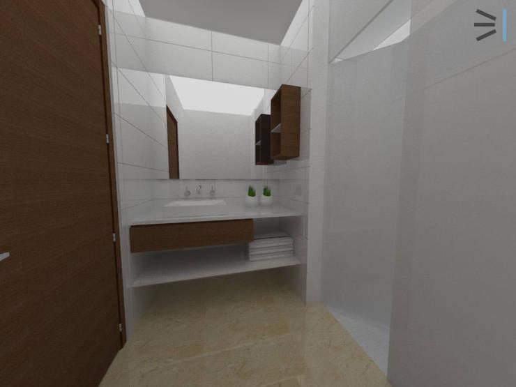 Sanitario habitación 02:  de estilo  por Tres en uno design