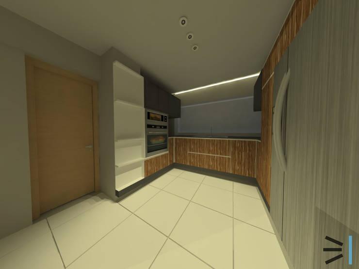 Cocina:  de estilo  por Tres en uno design