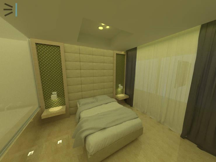 Habitación 01:  de estilo  por Tres en uno design