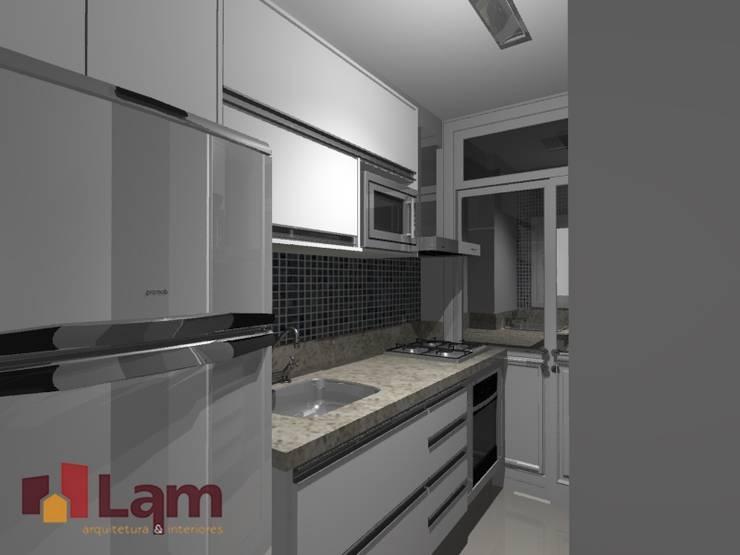 Cozinha - Projeto:   por LAM Arquitetura | Interiores