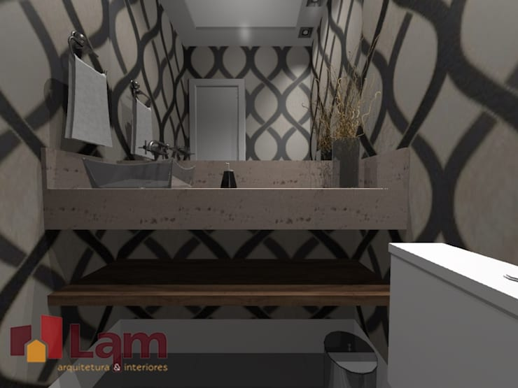 Lavabo - Projeto:   por LAM Arquitetura   Interiores