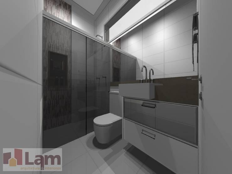 Banheiro - Projeto:   por LAM Arquitetura   Interiores