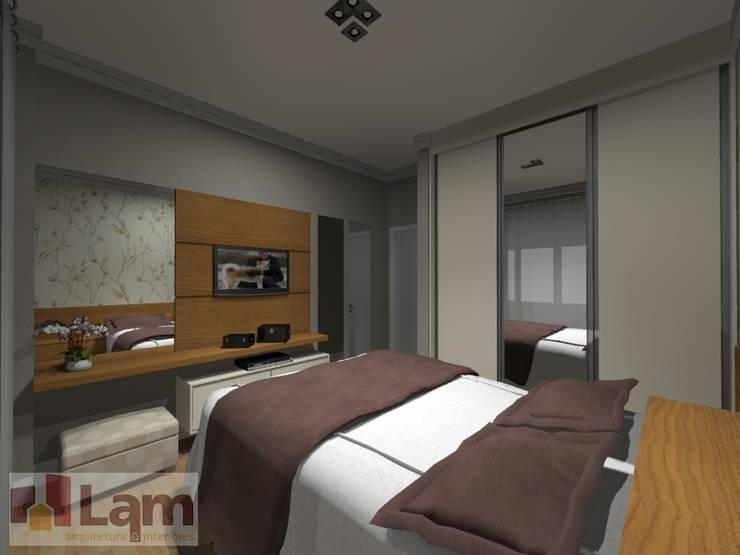 Dormitório - Projeto:   por LAM Arquitetura   Interiores